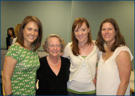 Naida Tushnet (second from left) with former WestEd colleague Jodie Hoffman, WestEd's April Haagenson, and former WestEd colleague Lauren Davis Sosenko