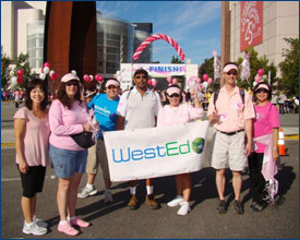 WestEd group in Orange County celebrates at the finish line!